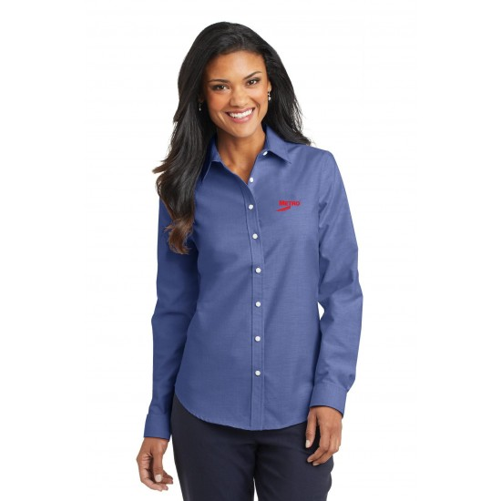 Ladies Port Authority SuperPro Oxford Shirt