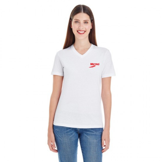 American Apparel Ladies' Fine Jersey Short-Sleeve Classic V-Neck