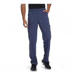 Men's Advance Two Tone Tonal Zip Fly Front Cargo Scrub Pant