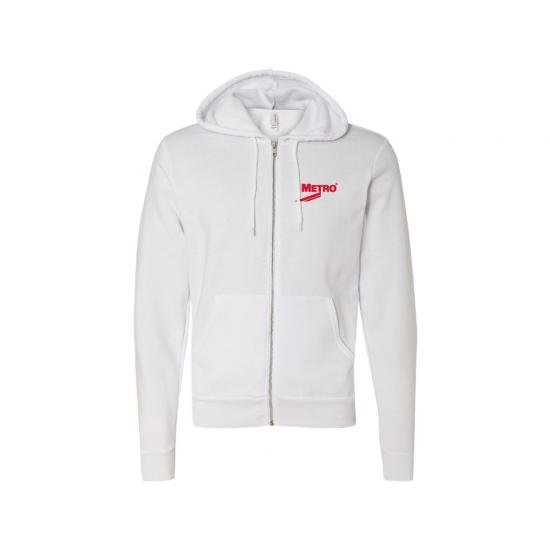 Bella Canvas Unisex Poly-Cotton Fleece Full-Zip Hooded Sweatshirt